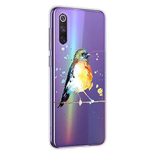 Oihxse Compatible con Xiaomi Redmi Note 5A Funda Suave Gel TPU Silicona Cristal Transparente Carcasa Acuarela Animal Pintado Patrón Protectora Estuche Bumper Caso Case (B1)