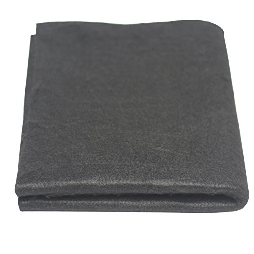 """HANSWAY High Temp 18"""" X 24"""" X 1/8"""" Carbon Fiber Welding Blanket Protect Work Area from Sparks & Splatte (18 x 24 inches)"""