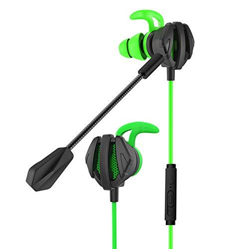 Hopcd Kabelgebundene Gaming-Kopfhörer mit 3,5-mm-Universal-Kopfhörer und omnidirektionalem Mikrofon für Computer/Mobiltelefon/Tablet(Grün)