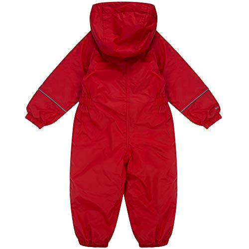Regatta Kids Splosh III Waterproof & Breathable Insulated All-In-One Outdoor Rain Suit, Red (Pepper, 6-12 months (Manufacturer size:XS)
