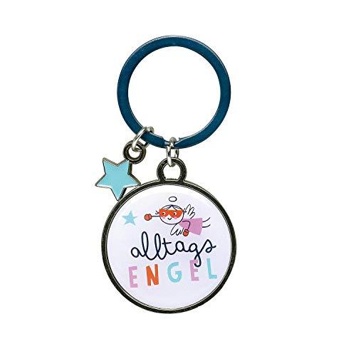 H:) PPY Life 46664 sleutelhanger alledaagse engel, met charm in stervorm