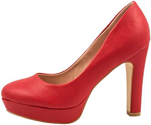 Elara Zapato de Tacón Alto Mujer Plataforma Chunkyrayan Rojo E22321-Rot-38