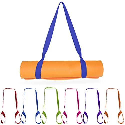 YO-HAPPY Colchoneta de Yoga, Nueva colchoneta de Yoga Sling Carrier Hombro Correa de Transporte Cinturón Ejercicio Estiramiento Ajustable