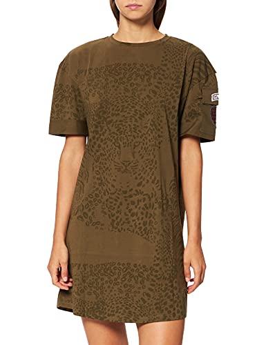 Desigual Vest_Naina Vestido Casual, Verde, M para Mujer