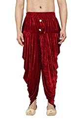 GN Red Velevt Harem Pants