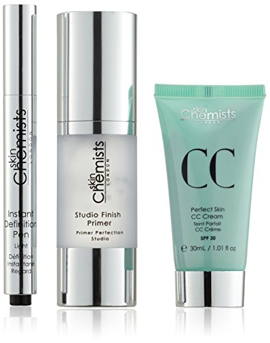 skinChemists Crème Hydratante Studio Finish Primer, Perfect Skin CC Cream Light et Instantané Définition Pen Light