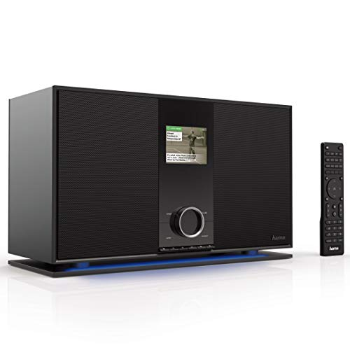 Hama Internetradio mit 2.1 Soundsystem (Spotify, WLAN/DAB+/UKW/Bluetooth/USB, 70 Watt RMS mit Subwoofer, Digitalradio mit 3,2