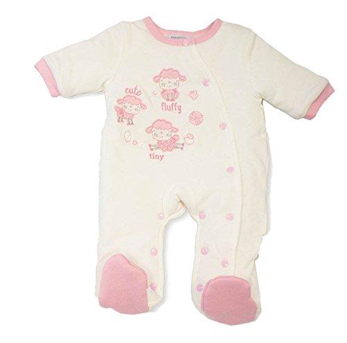 Baby Best Buys - Combinaison de neige - Bébé (fille) 0 à 24 mois rose Pink, Cream Nouveau-né