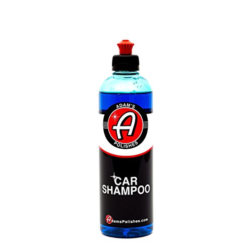 Adam's Car Wash Shampoo - pH Neutral Soap Formula For Safe, Spot Free Cleaning - Thick, Luxurious Foam Suds That Always Rinse Clean - Ultra Slick Formula That Wont Scratch or Leave Water Spots (16 oz)