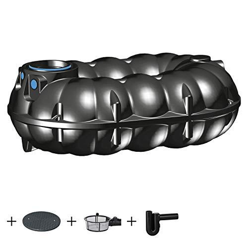 PREMIER TECH AQUA GmbH Zisterne 5000 Liter Regenwassertank NEO ECO inkl. Deckel, Korbfilter und Überlaufsiphon - Kunststoff, Kunststoffzisterne, Komplettset