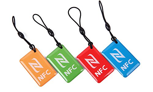 4pcs Waterproof Ntag216 NFC Smart Tags for Samsung Note3 S4 Nokia Lumia 920 Nexus 4/10 Oppo HTC