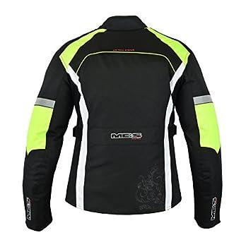 MBSmoto MJ24 dames moto moto scooter Touring veste imperméable en textile pour femmes (XS, jaune)