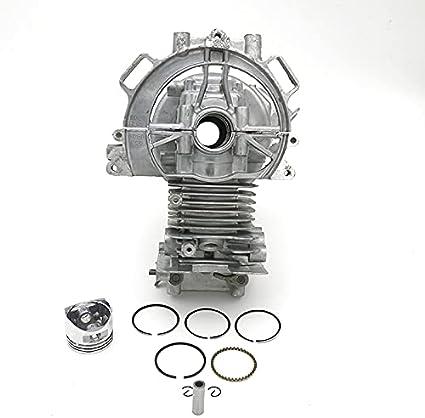 35MM Cyliinder Crankcase Mini motor vivienda Pistón Anillos ajuste para Honda GX25 GX25N GX 25 HHT25S Trimmer Brushcutter piezas