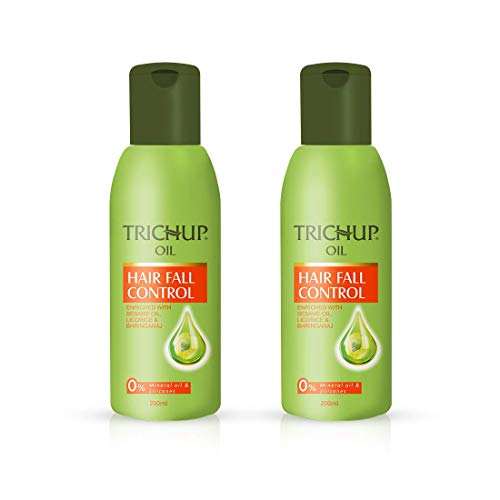 Trichup Hair Fall Control Lot de 2 huiles capillaires à base de plantes 200 ml