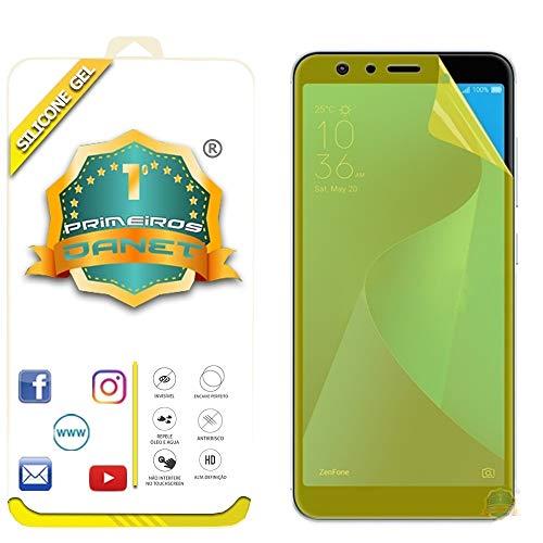 Película De Gel Silicone Flexível Para Asus Zenfone Max Pro M1 Zb602kl Tela 6.0 - Proteção Que Adere E Cobre Toda A Tela - Danet