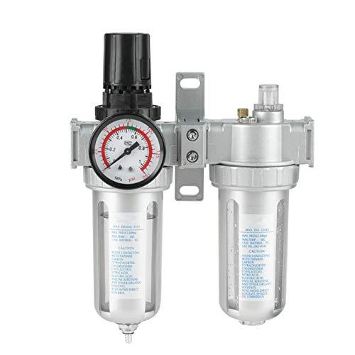 youyu6-2o521 Agua Aceite SFC400 Filtro colector del Filtro de aerógrafo compresor de Aire Regulador Válvula Reductora de presión 1 / 2pulgadas Compresor Kit de Filtro