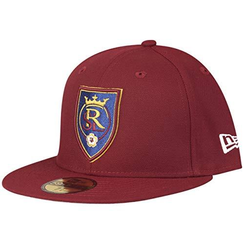 New Era 59Fifty Gorra ajustada, MLS Real Salt Lake Rubin berenjena XXX-Large