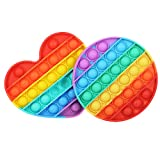 Push Pop Bubble Fidget Sensory Toys for Autistic Children, Silicone Fidgets Toy for ADHD, Stress Anxiety Relief Toys for Kids Adults, Popping Fidget Novelty Gift (B)
