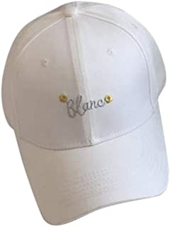 Hats Cap Summer, Men and Women, Hat, Casual Style, Fashion (Color : White, Size : F)