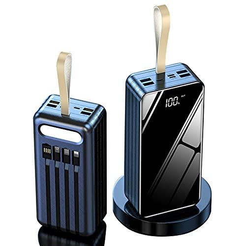 LIMIAO 100000Mah USB Power Bank Cargador portátil Diseño Simple, Elegante y Compacto Paquete de batería de Carga rápida 2.1A, para iPad iPhone Samsung Google Airpod Android,Negro