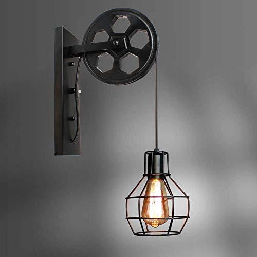 Skysep Iluminación Vintage Industrial Lámpara de Pared E27 Hierro Apliques de Pared para Dormitorio Bar Corredor Escaleras Pasillo Escalera Retro (Color : 02)