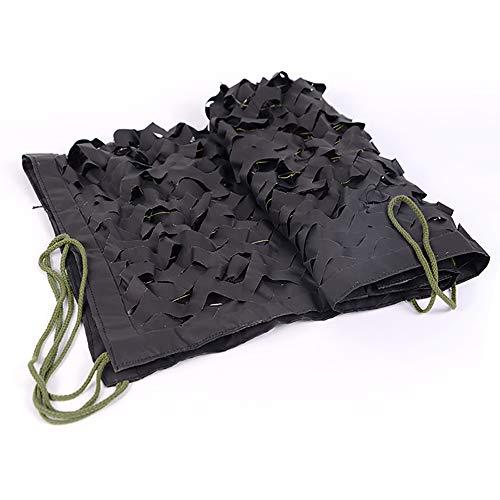 WYZQQ zwart camouflagennet, schaduwnet, perfect camonetting voor kamperen, jacht, parasol, feestdecoratie met militair thema - 2 x 3 M, 2 x 4 M, 3 x 4 M, 3 x 4 M, 3mX6m