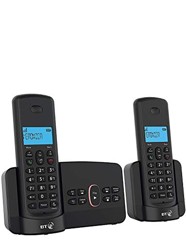 BT Home Phone with Nuisance Call Blocking and Answer Machine (Twin Handset Pack)