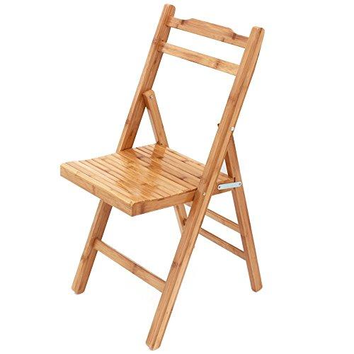 HTZ Chaise Tabouret De Loisirs Petit Banc Maison Balcon | Chaise Pliante Chaise En Bambou | Chaise De Pied Tabouret En Bois Massif Portable Haute Chaise Portante Sans Installation A++