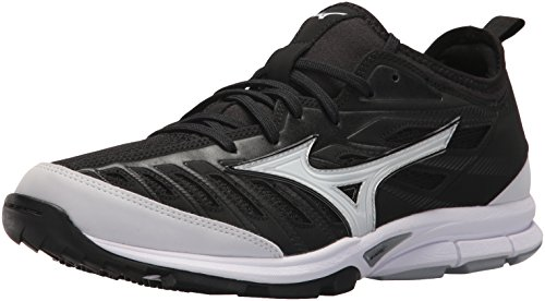 Mizuno Herren Mens Shoe Players Trainer 2 Turf-Schuh, schwarz/weiß, 45 EU
