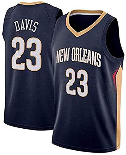 XSJY 'S Maglie Uomo - New Orleans Pellicani # 23 Anthony Davis Maglia di Pallacanestro Jersey Swingman Edition Unisex Senza Maniche T-Shirt,Bianca,XXL