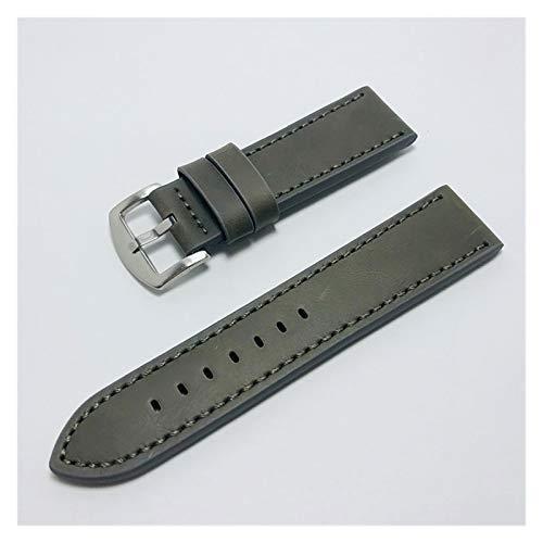 ZZDH Correa Reloj Cuero Correa de Cuero 18 mm 20 mm 22 mm 24mm Reloj Deportivo con Correa Impermeable Universal para Hombres y Mujeres (Band Color : 4, Band Width : 18mm)