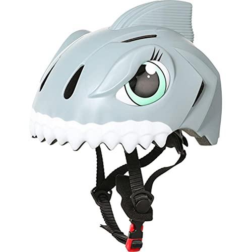 Ububiko Casco De Bicicleta para Niños, Forma De Tiburón 3D, Casco para Niños Y Niñas, Protección Antichoque para Bicicletas, para Patineta De Ciclismo, Patineta con Ruedas, Patineta