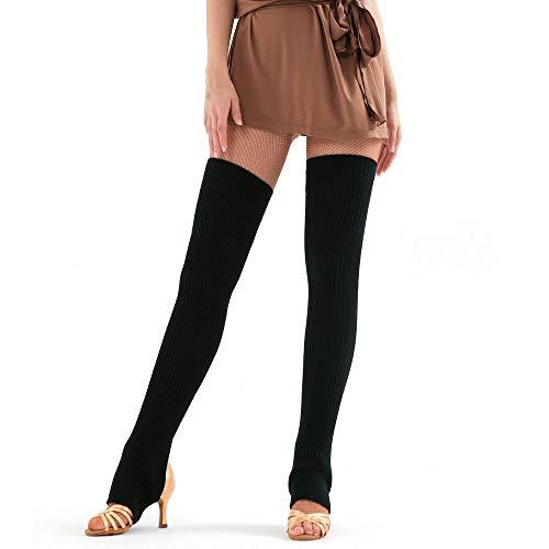 AMUSTER Damen Mädchen Bein Stulpen Beinwärmer Strick Warmer Overknees Stulpen Atmungsaktive Elastische Wolle Knielinge Knie Klammer Stützknieschützer