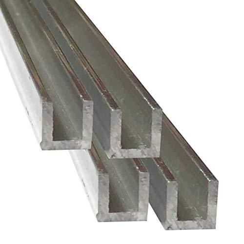 Alu U-Profil 50 x 50 x 50 x 4,0 mm Aluminium AlMgSi0,5 U-Stab Profil Aluprofil U-Stange 3 Stck. /á 200 cm 600 cm