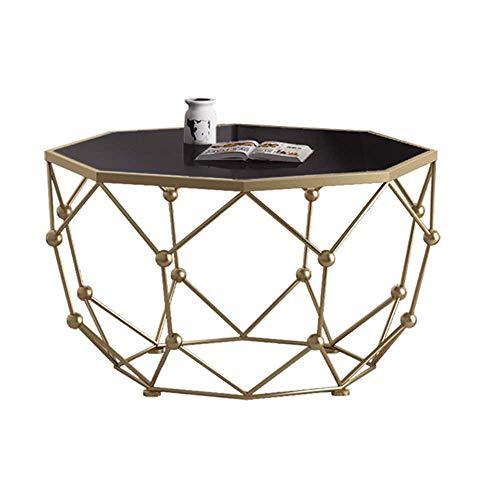 QNN Tisch, Nordic Sofa Für Wohnzimmer Schlafzimmer Home Office, Geometrisches Design, Marmor, Metall, 76X76X45 cm
