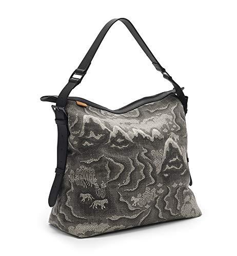 Littlephant Messenger Bag/Wickeltasche Tiger Islands, grau, 0,38 kg