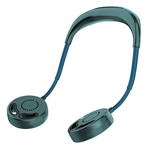 SOWLFE Ventilador de cuello colgante USB – Ventilador plegable recargable manos libres mini ventiladores ideales para actividades al aire libre, gimnasio, oficina, hogar