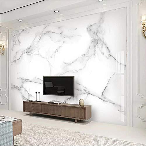 Papel Tapiz 3D Mural Hogar Dormitorio Sala de Estar Decoración de Pared Fondo 3D Mármol Blanco Abstracto moderno-400cmx280cm