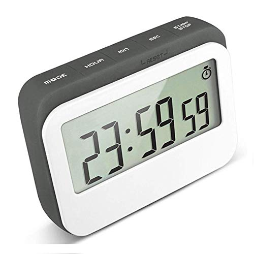 VPAL Digital Kitchen Timer 12/24 Hours Alarm Clock with Magnetic Back and Retractable Stand, Large LCD Display