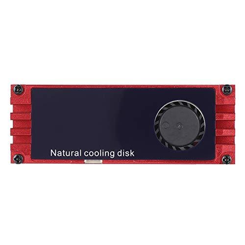 Disipador de Calor de Buena disipación de Calor, disipador de Calor de Disco Duro con Pantalla instantánea,(Red (Display Temperature))