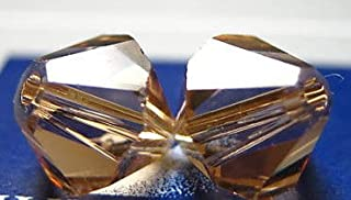 Swarovski Crystal Bicones 5301/5328 6mm Light Colorado Topaz-- 25 Beads