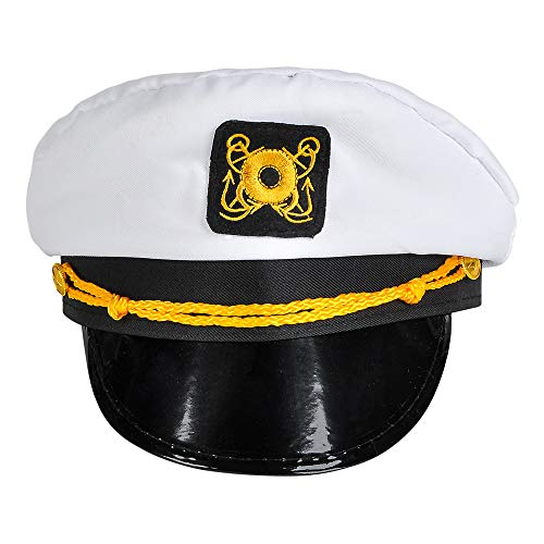 Rhode Island Novelty White Captain's Hat, One per Order