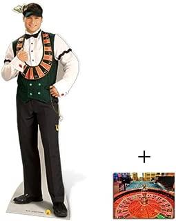 Vegas Casino Croupier - Poker Night Lifesize Cardboard Cutout / Standee / Standup - Includes 8x10 (20x25cm) Star Photo