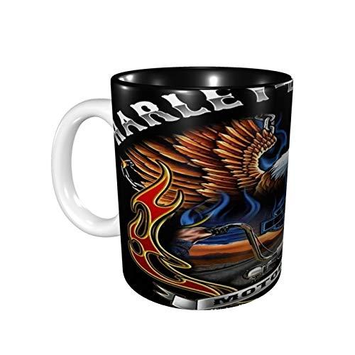 Harley Davidson Kaffeetassen, große Griffe, Tasse für Zuhause und Büro, Geschenk für Damen/Herren/Kinder, lustiges Geschenk