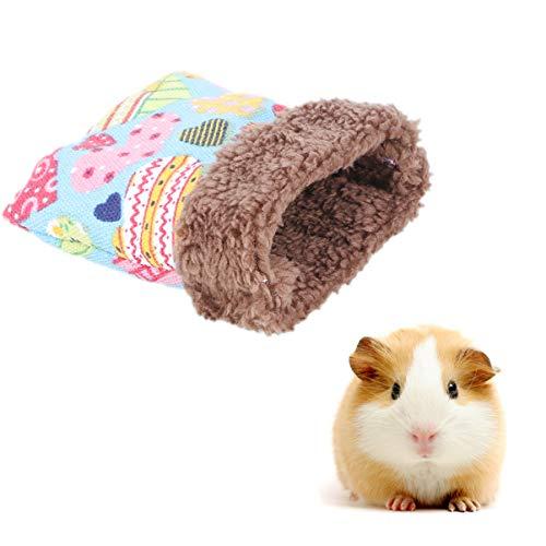 Balacoo Saco de dormir para animales pequeños, para invierno, suave, cálido, para hámster, cobaya, erizo, rata chinchillas (color al azar, talla S)