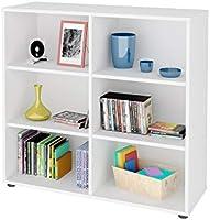 مكتبة كتب من ارتاني كلين، 6 انش، لون ابيض، الارتفاع 81.2 سم × العرض 86.4 سم × العمق 30 سم