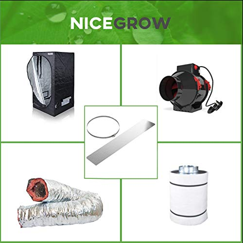 Nice Grow Growzelt Abluft-Set Dark Box 80 BlackOrchid Hybrid Flo 245cbm/h Aktivkohlefilter