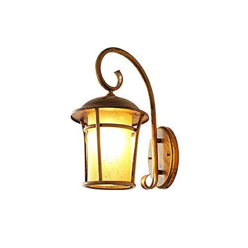 Lampes de mur extérieur étanche, éclairage LED en verre fer nordique décoratif Cour Salon Aisle Table à manger Wall Light Vintage Bar Industrial Study Hôtel Wall Sconce (Design : B)