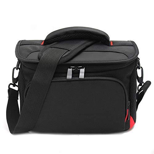Kameratasche, wasserdicht, mit Regenschutz, für Laptop & Messenger (Größe: M, Farbe: Schwarz)