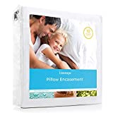 LINENSPA Zippered Encasement Waterproof, Dust Mite Proof, Bed Bug Proof, Hypoallergenic Breathable Pillow Protector - King Size